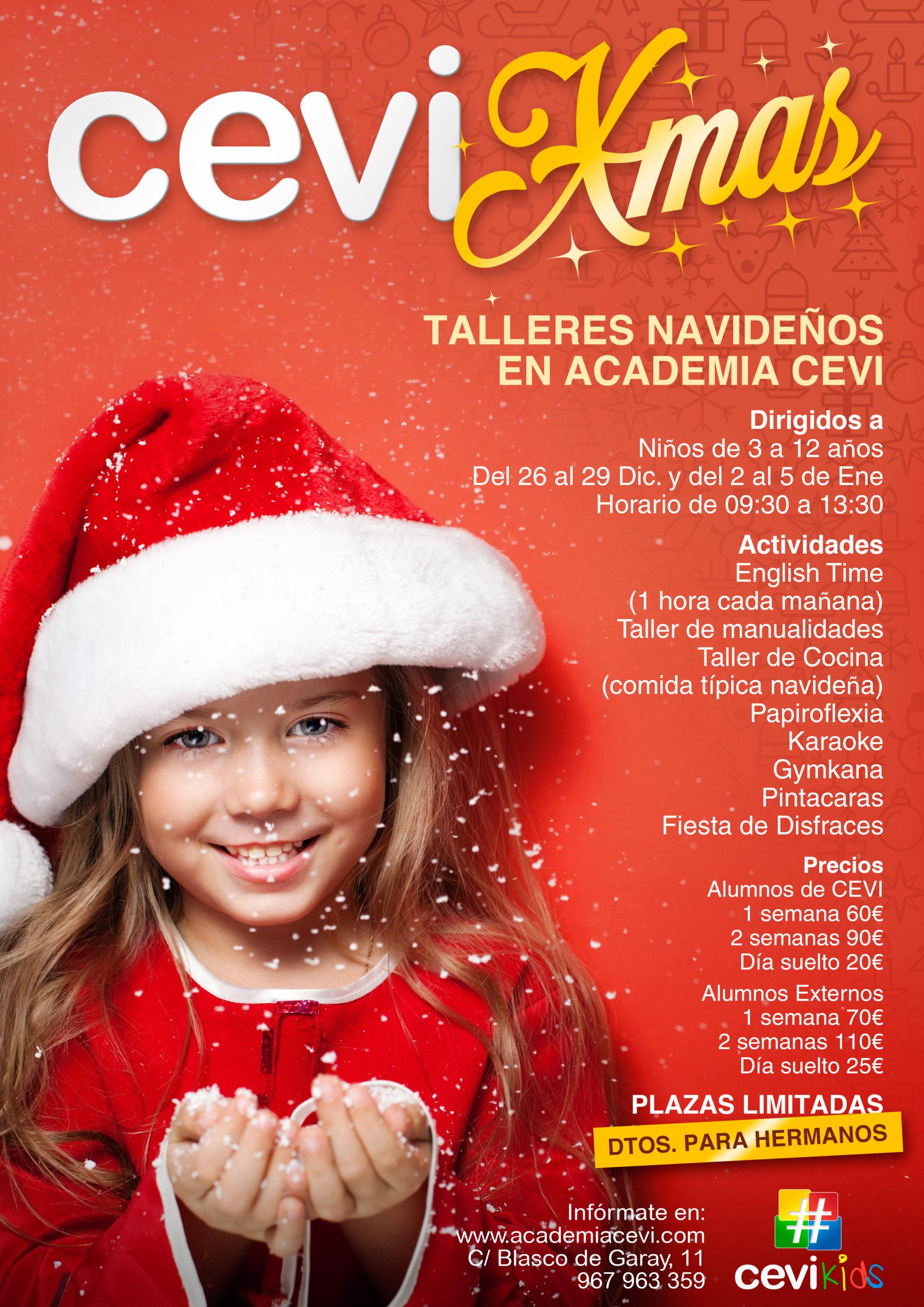 ¡No te pierdas CEVI XMAS, los talleres navideños para niños de CEVI KIDS!