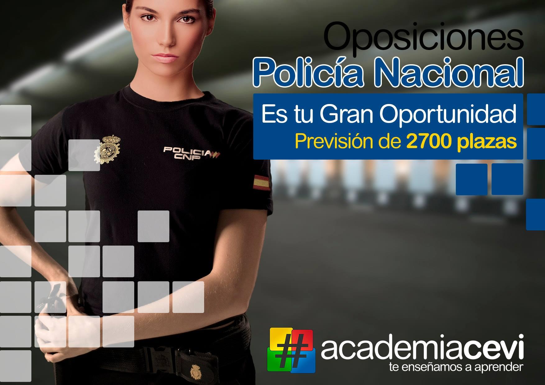 Oposiciones Policia Nacional 2019 en Academia CEVI