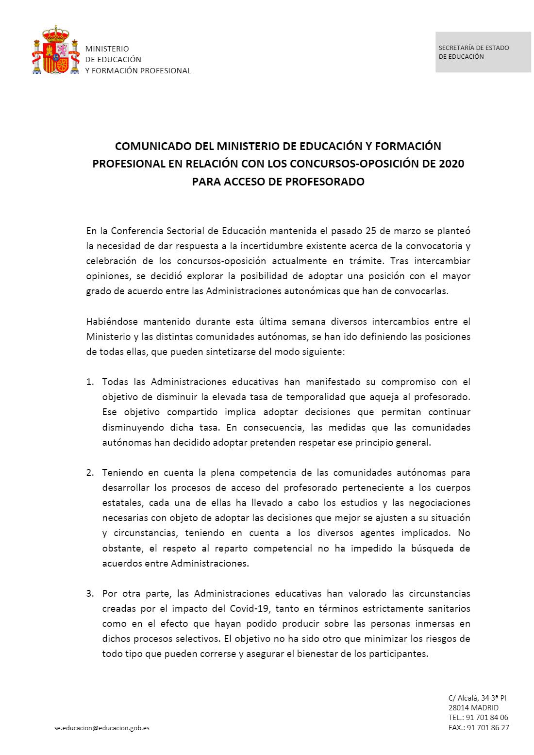 Ya es oficial: las Oposiciones de Enseñanzas Medias en Castilla-La Mancha se posponen al año 2021